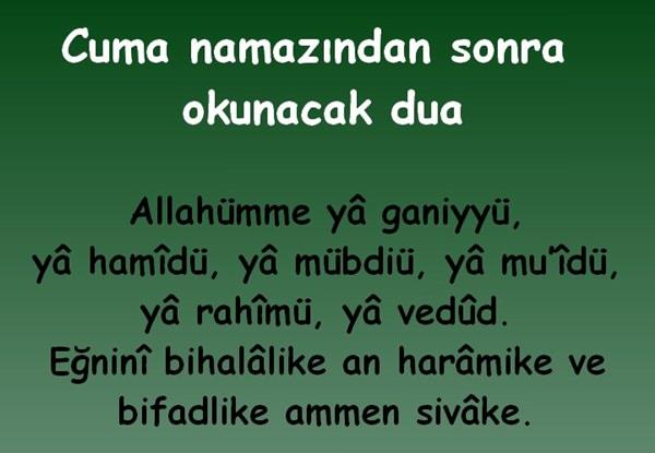 cuma namazindan sonraki dua - Cuma Günü Okunan Dua Arapça Okunuşu ve Türkçe Anlamı